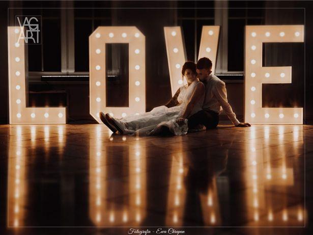 Wynajem - DUŻY Świecący napis LOVE i MIŁOŚĆ - dekoracje wesele śląsk
