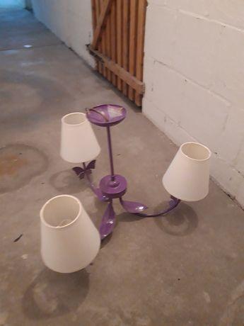 Lampa sufitowa do pokoju dziecka, kolor lawendowy