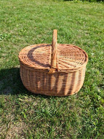 Koszyk wiklinowy piknikowy