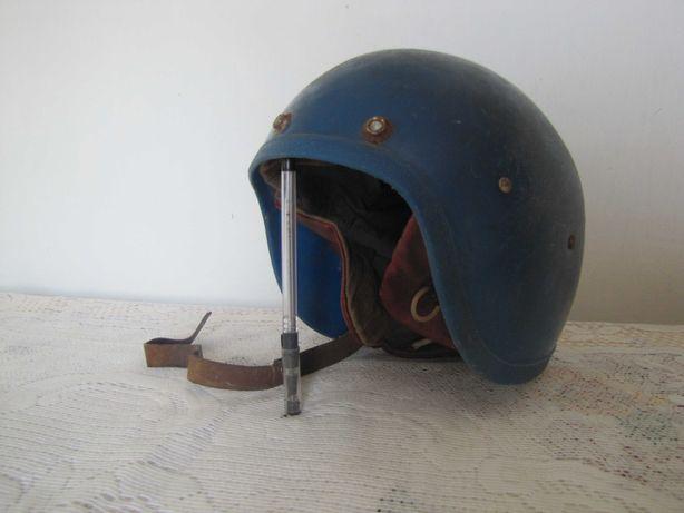 каска шлем винтаж синий старый