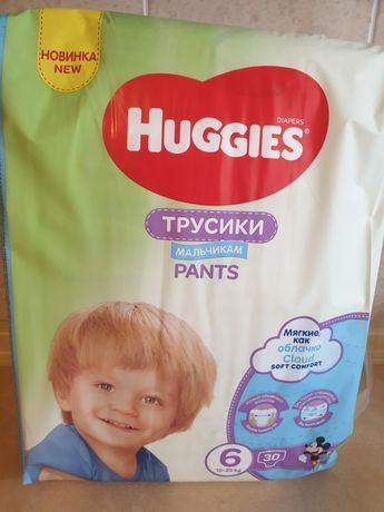 Трусики памперсы подгузники Huggies 6