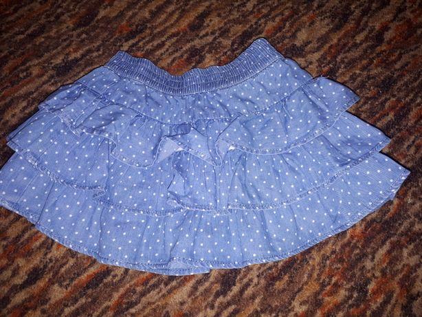 Spódniczka i sukienka jeans 86