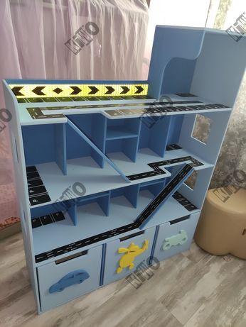 Парковка для машинок KingCar, кукольный домик