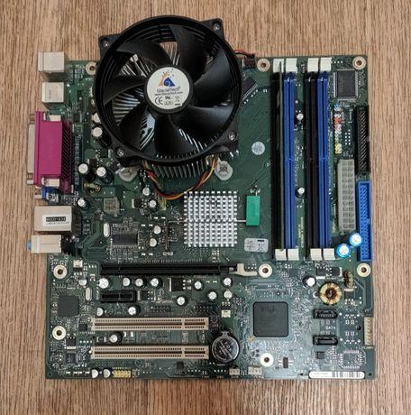 Продам комплект материнская плата, процессор с кулером и память.