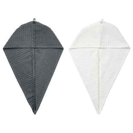 Набор полотенец для сушки волос IKEA полотенце-тюрбан 100% хлопок 2 шт