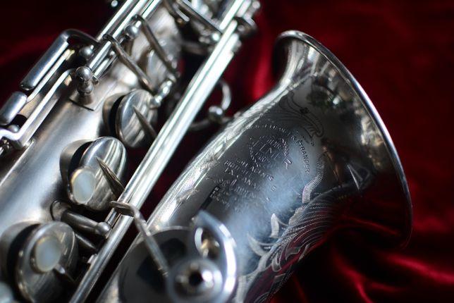 1937 Saksofon Altowy Selmer Balanced Action Satin Silver!