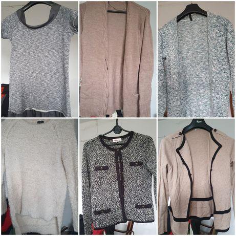 Zestaw paka Ubrań bluzki swetry roz.M małe L