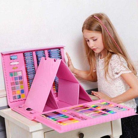 Набор для творчества в чемодане из 208 предметов,детский чемодан
