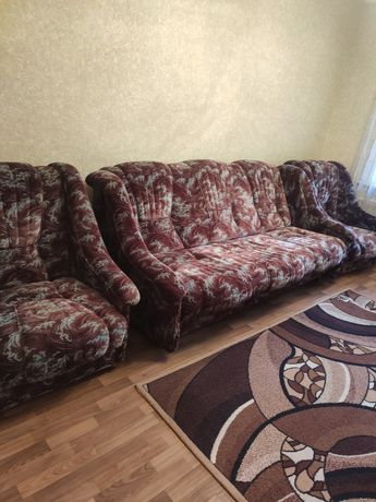 Мягкая часть (диван+два кресла)