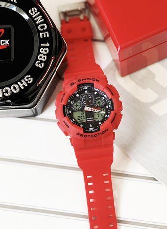 Czerwony zegarek Casio G-Shock GA-100 super jakość