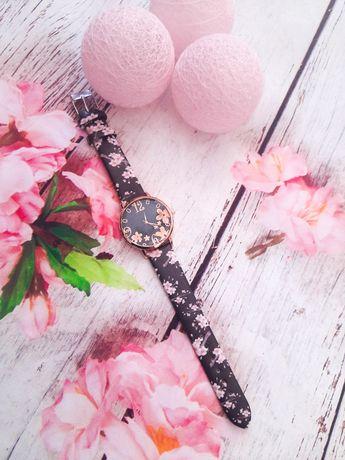 Nowy zegarek damski kwiaty
