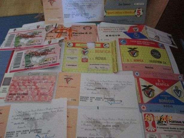 14 Bilhetes antigos do SLB+1 Camp. mundial juniores