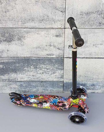 Trójkołowa hulajnoga scooter 2037/4 świecące kółka