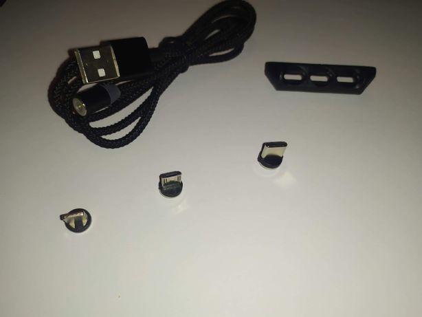 Ładowarka magnetyczna 3w1 Micro USB, Apple, USB-C