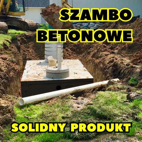 Zbiornik betonowy Szambo betonowe Deszczówka PRODUKCJA Atest Gwarancja