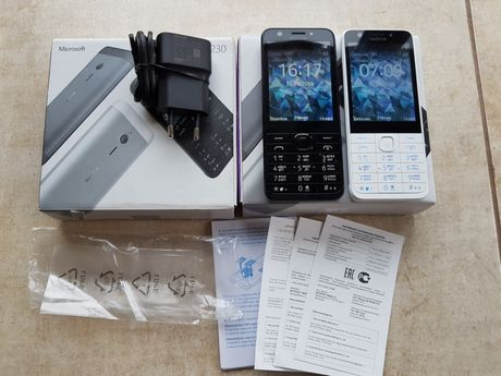 Nokia 230 Оригинал Идеал На 2 сим карты Белый Черный