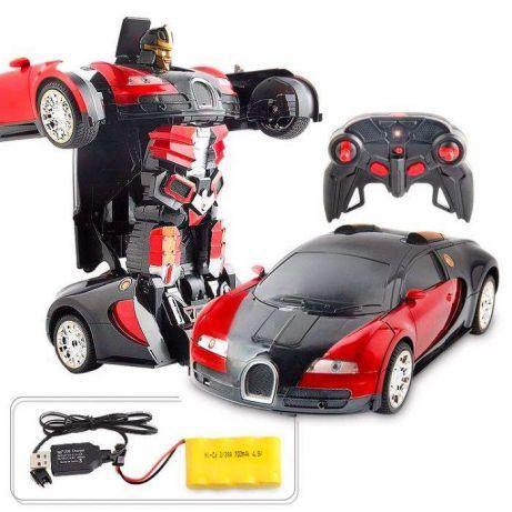 Bugatti трансформер Veyron. Машинка, 2 в 1, поворачивает на 360