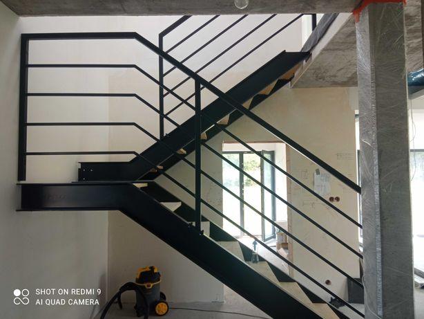 Schody metalowe, wewnętrzne, nowoczesne, loft