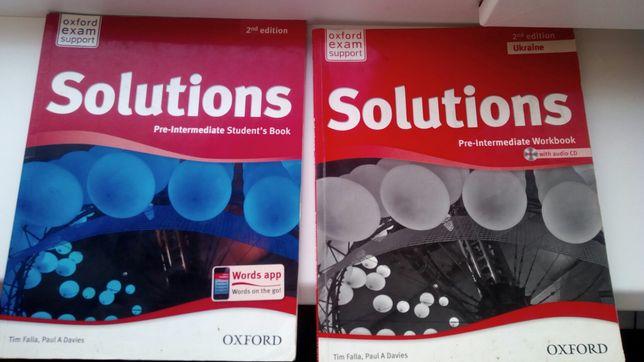 англійська мова Solutions 2nd edition / книжка + зошит робочий + диск
