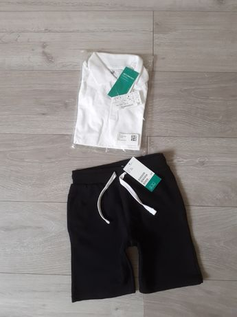Nowy zestaw H&M 110-116 spodenki plus koszulka polo