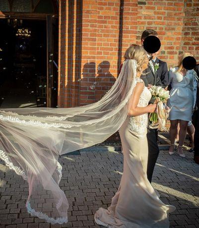 Piękna suknia ślubna Lillian West rozmiar 36