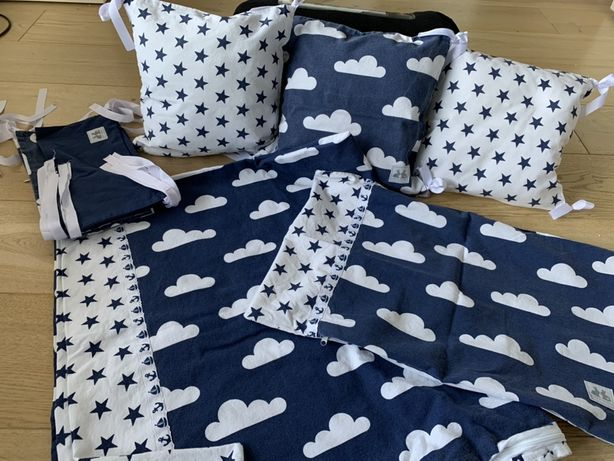 Pościel do łóżeczka dzieciecego - chmurki, gwiazdki, kropki, misie