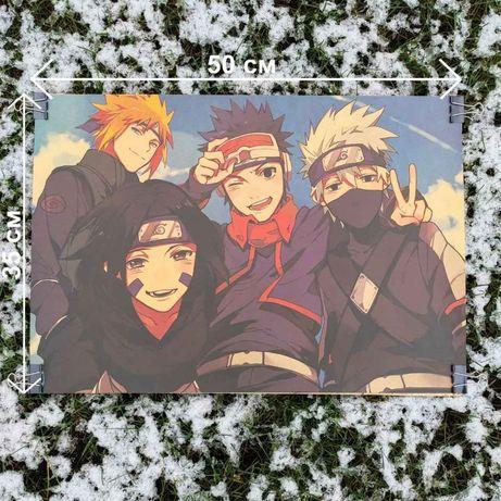 Постер плакат картина на стену из аниме Команда Мінато
