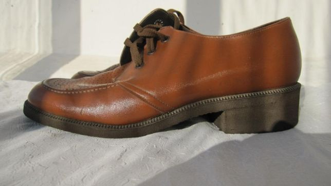 Стильные винтажные мужские туфли дерби в стиле 80-х телячья кожа