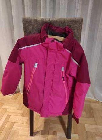 Różowa dziewczęca kurtka zimowa h&m
