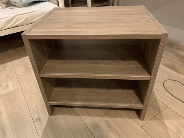 Szafka szafki nocne IKEA Todalen szarobrązowe dwie sztuki, okazja.