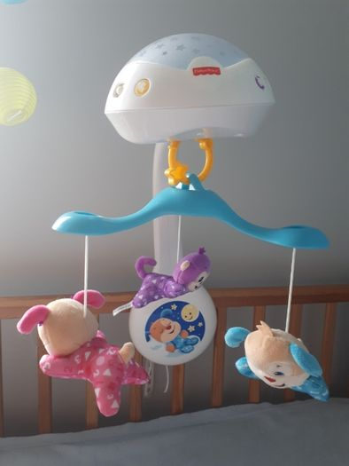 Karuzela niemowlęca z projektorem do łóżeczka - Fisher Price