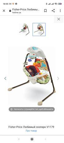 Кресло-качалка / укачивающий центр Fisher-Price Любимый зоопарк