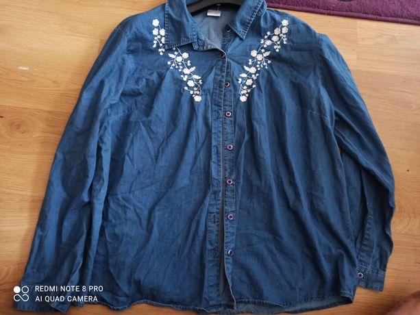 Jeansowa koszula z haftem 46-48