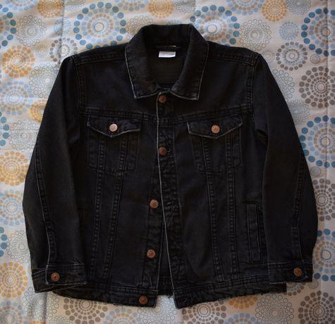 Blusão de ganga preto Zara 7A