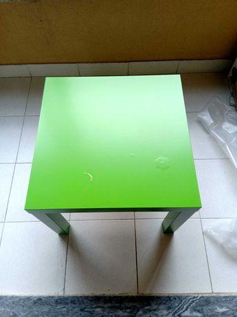 Mesa Ikea preto e verde + prateleira verde