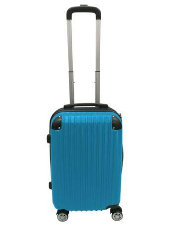 Walizka Podróżna Bagażowa Kabinowa na 4 kółkach ABS M Niebieska 1090