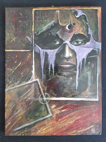 Obraz olejny ręcznie malowany na płótnie 40 x 30 cm.