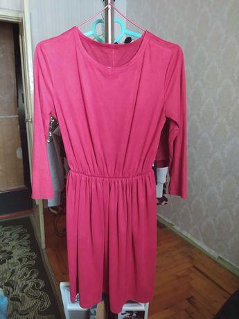 Платье тонкий замш