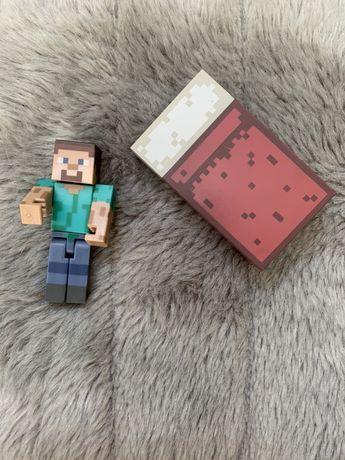 Figurka postać Steve z Minecraft łóżko