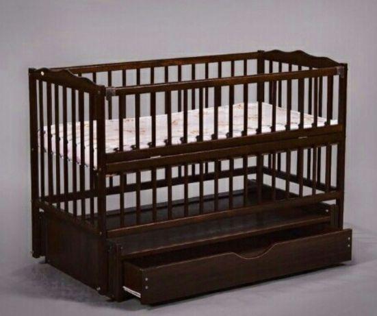 Детская кроватка кровать Венге маятник ящик Новые ліжко дитяче
