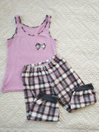 Bawełniana piżama damska dwuczęściowa