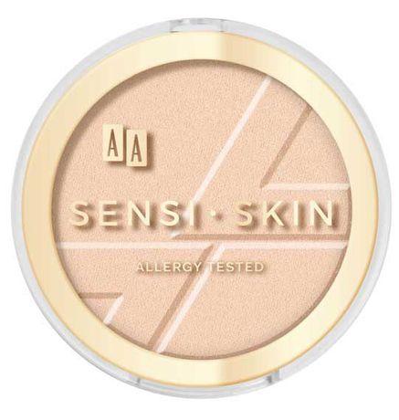AA Matujący Puder Sensi-Skin 02 Nude do cery wrażliwej z jagodami acai
