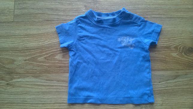 Koszulka niebieska rozmiar 68