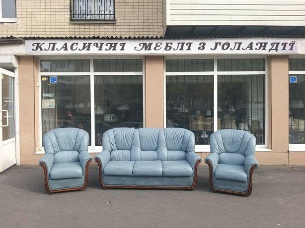 Шкіряні меблі з Європи, кожаный диван