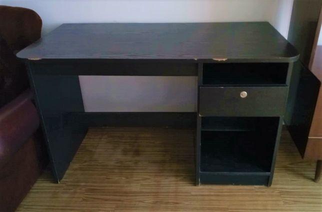 Czarne drewniane biurko 120 x 60cm
