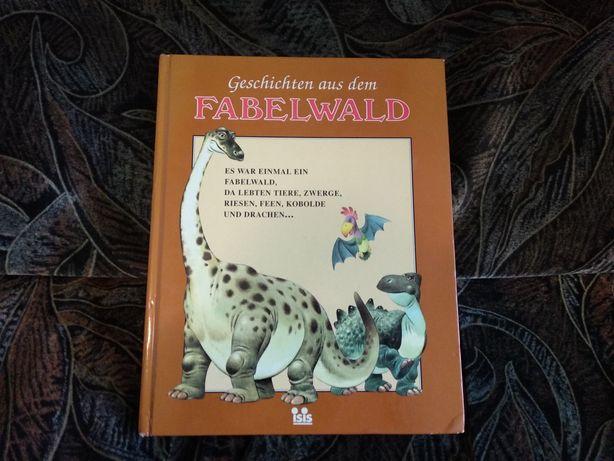Дитяча книжка на німецькій мові, про динозаврів.
