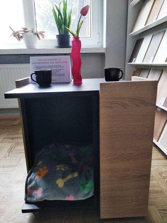 Stolik kawowy z miejscem na legowisko dla kota/psa
