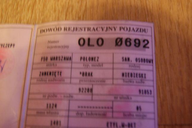 Fso Polonez*Rok 1982*38Lat*Antyk*Wysyłka*Okazja