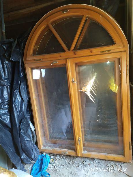 Вікна дерев'яні арочні 4 шт