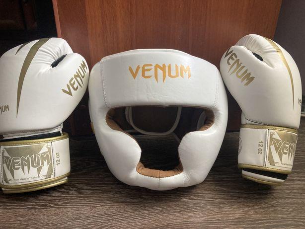 Боксерские перчатки и шлем VENUM